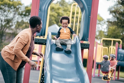 As long as your toddler is supervised, slides are totally safe, experts say.