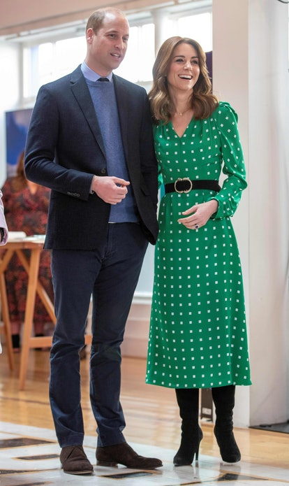 Kate Middleton wore a Suzannah London dress for a trip to Galway
