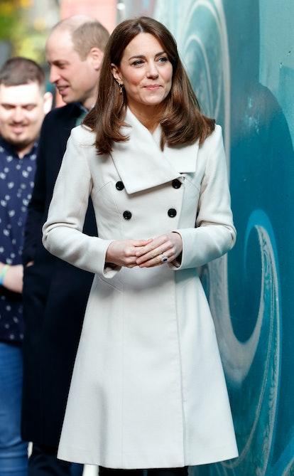 Kate Middleton re-wore her white Reiss coat for her 2020 Ireland tour