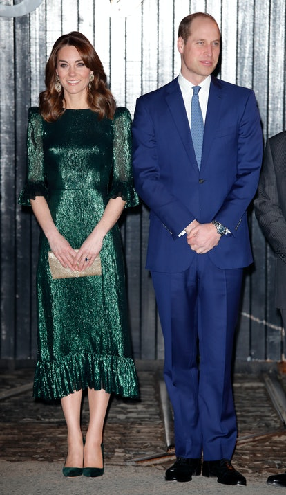 Kate Middleton chose an emerald The Vampire's Wife dress for her first night in Ireland