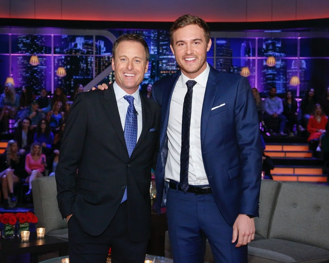 Chris Harrison addressed a fan theory that Peter ends up with a producer on ABC's 'The Bachelor'