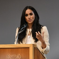 Meghan Markle wore a good luck charm necklace for International Women's Day