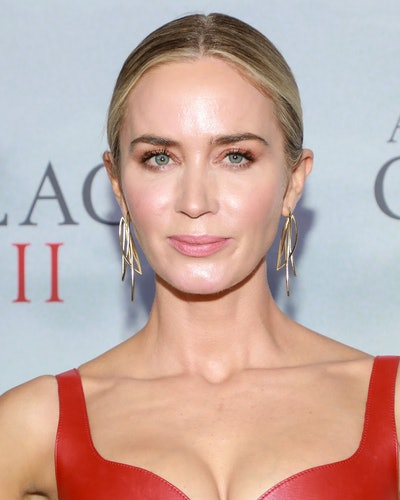 Close up of Emily Blunt's makeup at 'The Quiet Place II' premiere.