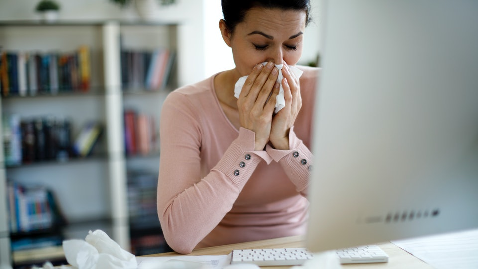 A new survey has found that nearly half of Americans go to work sick, sparking a renewed fight for paid sick leave in light of the coronavirus outbreak.