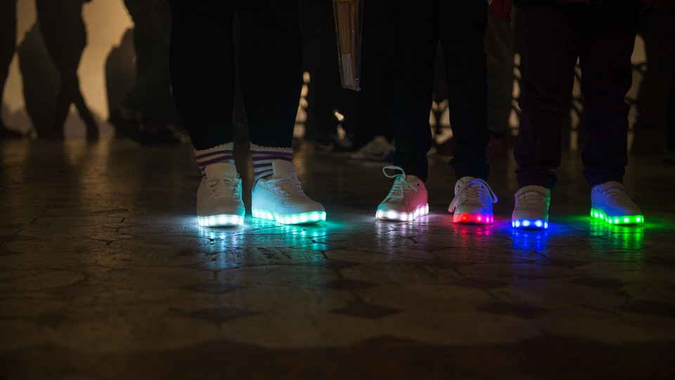 Light-up shoes are extremely popular, but they require special disposal and can't just be tossed in the trash.