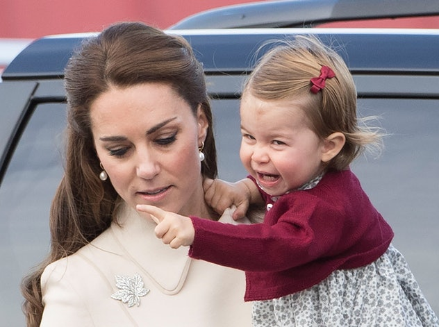 Princess Charlotte points her finger