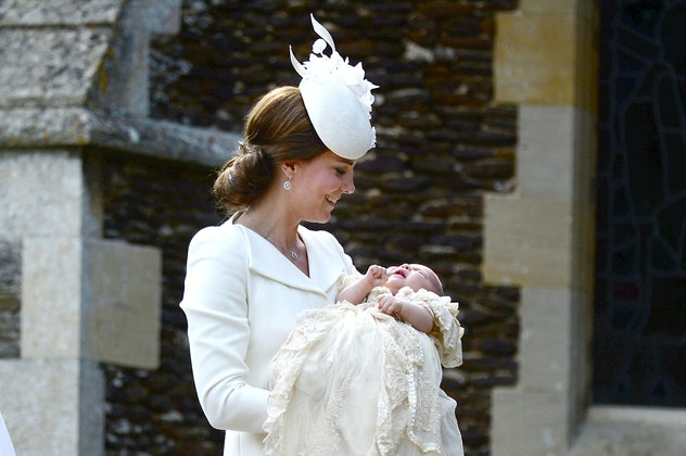 Kate Middleton smiles down at Princess Charlotte