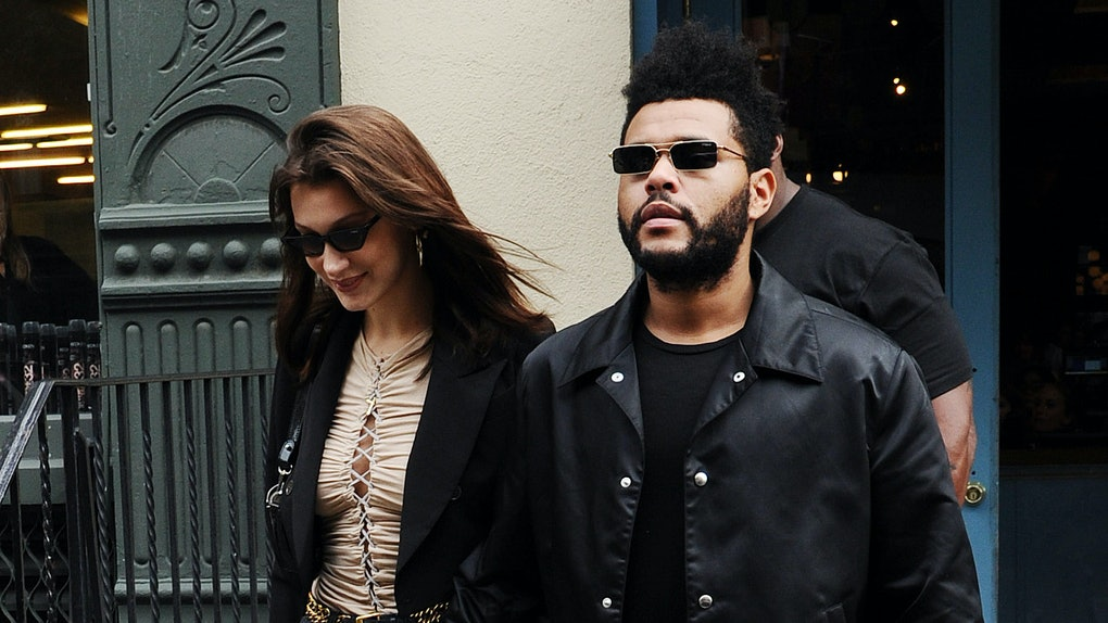 Bella Hadid and The Weeknd step out hand in hand.