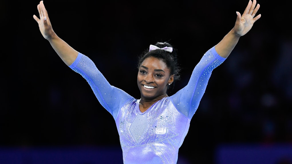 Simone Biles' reaction to the 2020 Olympics postponement shared how she's currently staying in shape.