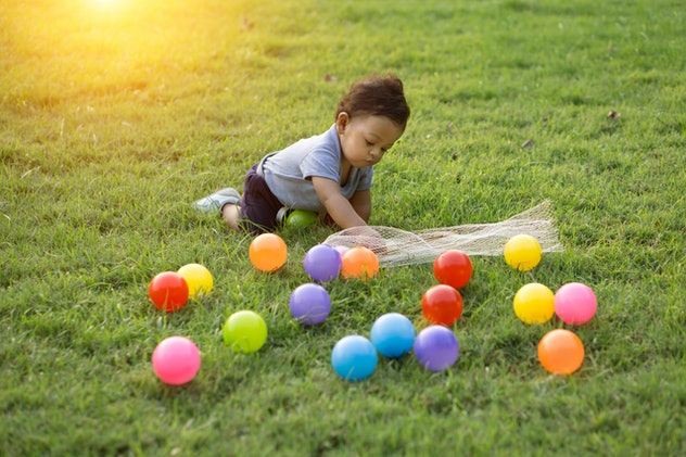 Novel Easter egg hunt ideas can keep toddlers engaged.