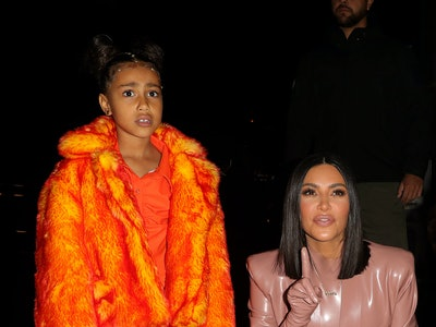 Kim Kardashian got caught hiding in the guest bathroom by daughter North.