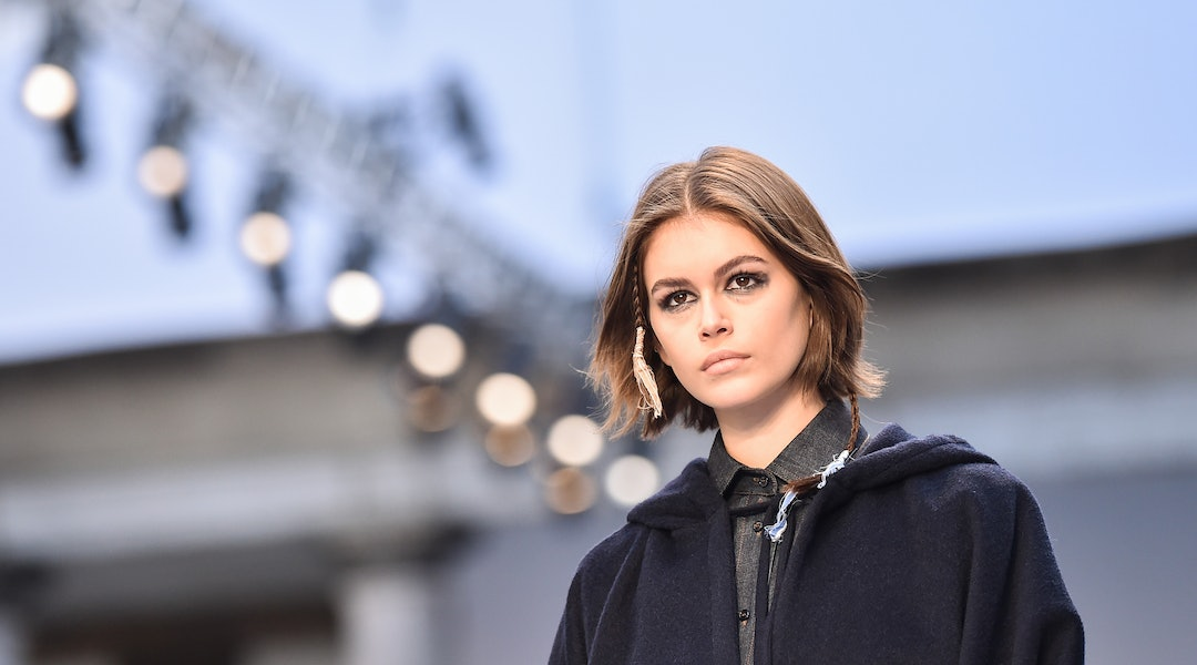 Kaia Gerber just dyed her chestnut hair bronde