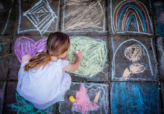 Aside from drawing, there are many different activities to do with sidewalk chalk.