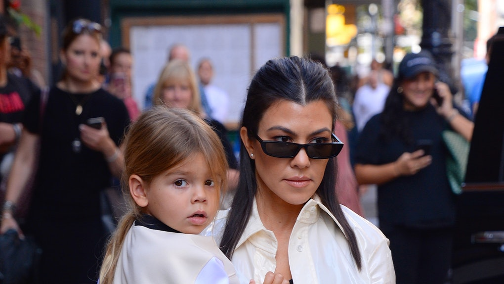 Kourtney Kardashian steps out with son Reign.