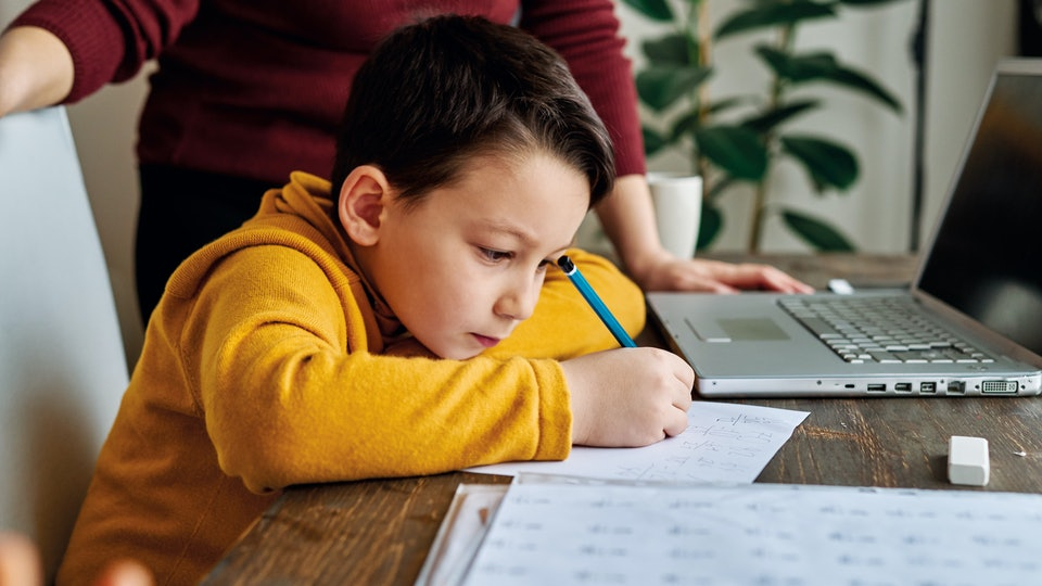 Experts say your child should do less homeschooling than they would spend time working at school.