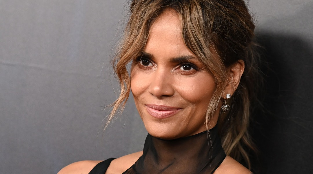 Halle Berry posted an image of her in a DIY face mask on April 19.