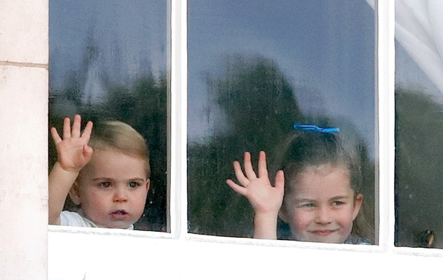 Prince Louis perfects his royal wave.