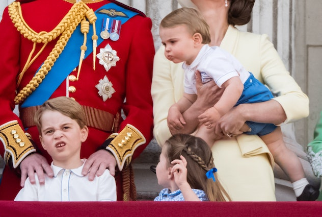Prince Louis wanted a hug from big brother Prince George.