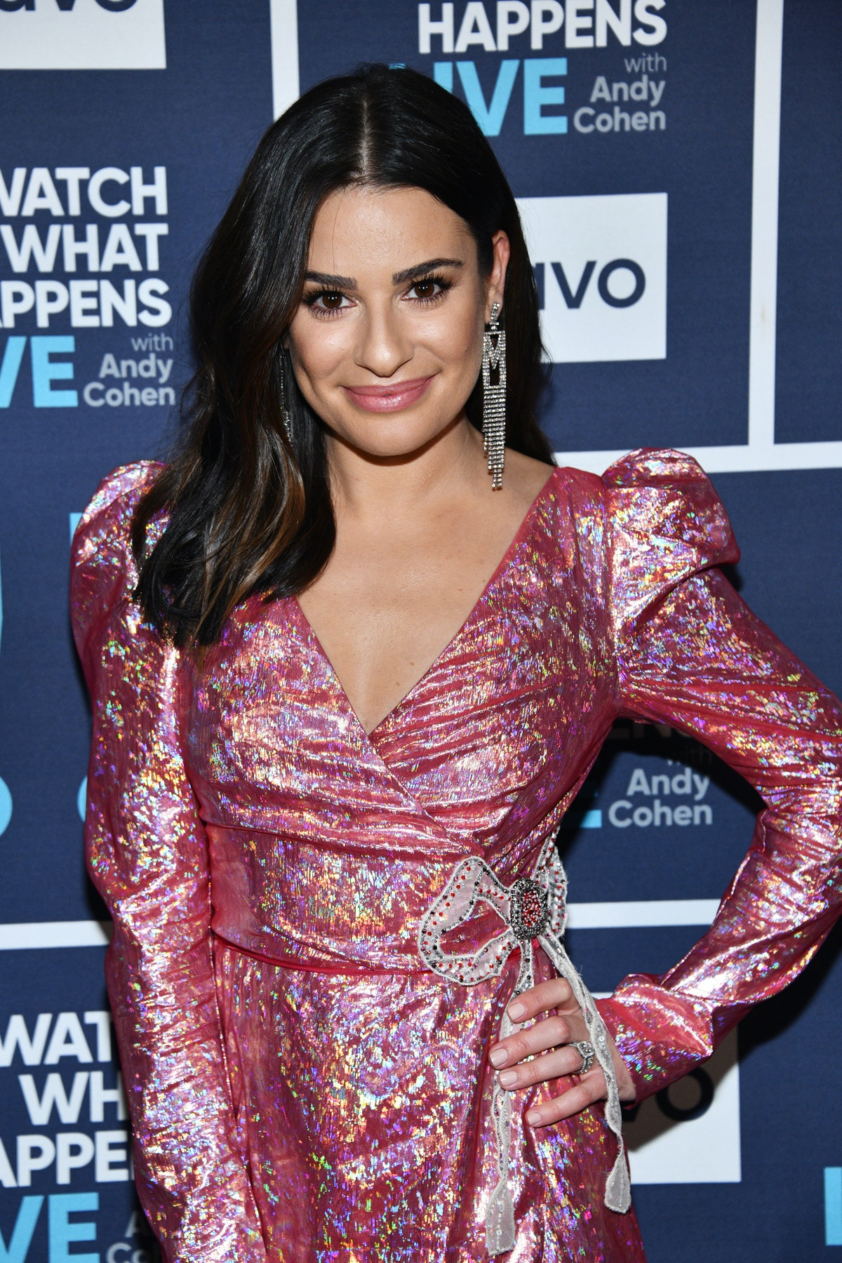 Lea Michele attends 'Watch What Happens Live.'