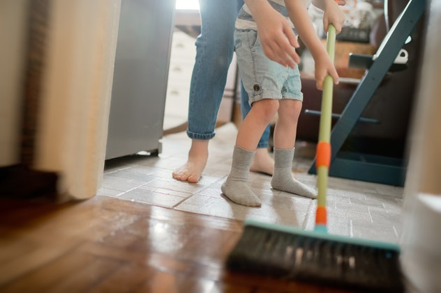 Teaching your child to do housework is one practical tip from parents during homeschooling.