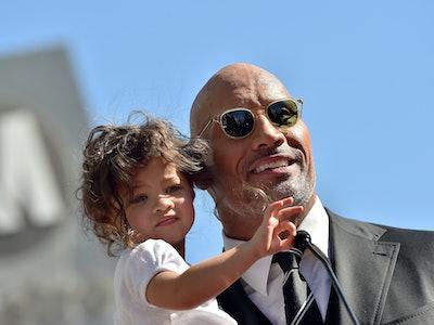 Dwayne Johnson sings 'Moana' while washing daughter Tia's hands.