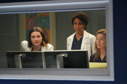 Caterina Scorsone, Kelly McCreary, and Ellen Pompeo on ABC's 'Grey's Anatomy'