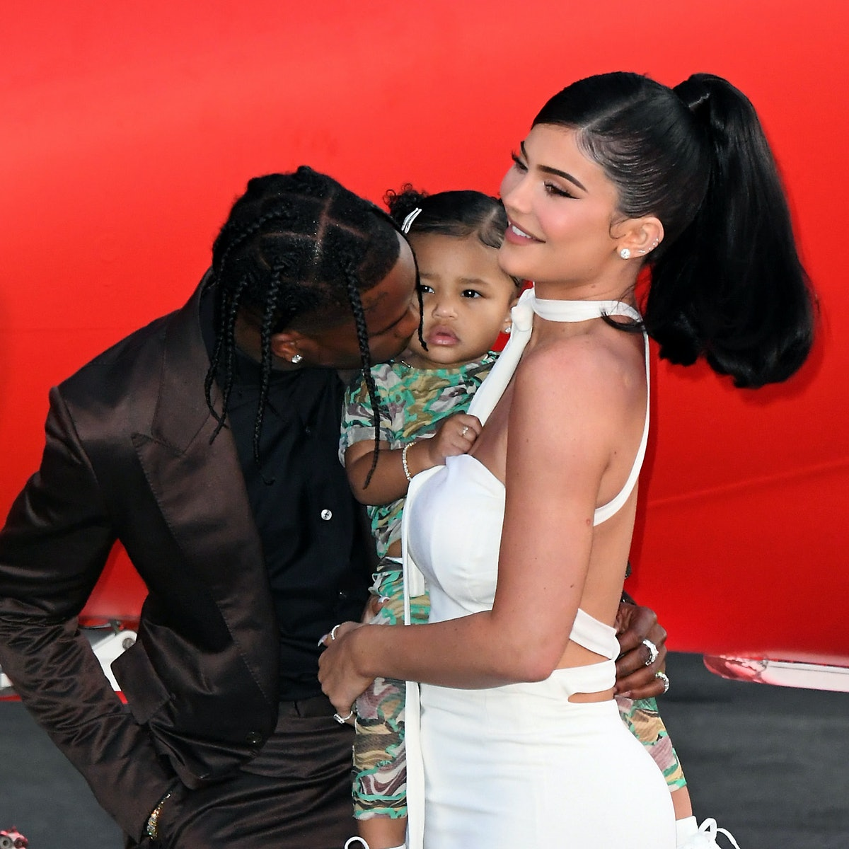 Kylie Jenner, Travis Scott, and their baby Stormi hit the red carpet.