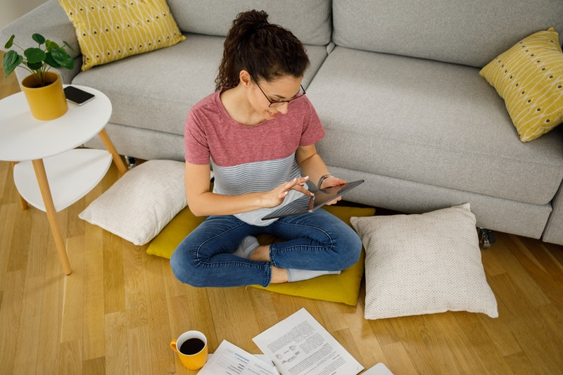 A woman works at home. The upheaval of lockdown for coronavirus has impacted many women with ADHD negatively.