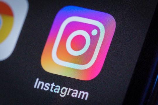 Instagram logo on smartphone