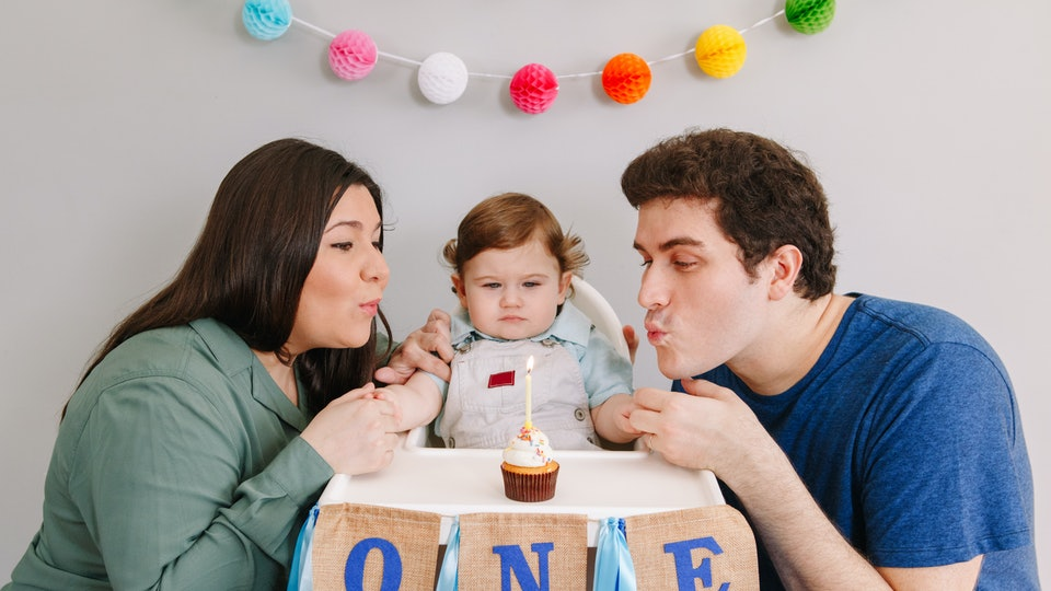 You can make your baby's first birthday special during coronavirus by decorating, having a cake, and taking lots of photos.