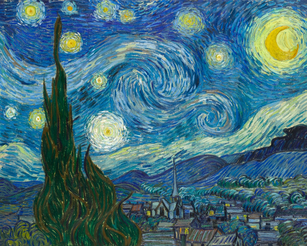 These Zoom backgrounds of famous paintings include works by Van Gogh.