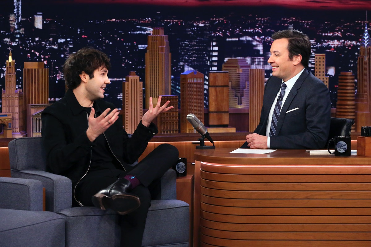 David Dobrik appears on 'Late Night With Jimmy Fallon.'