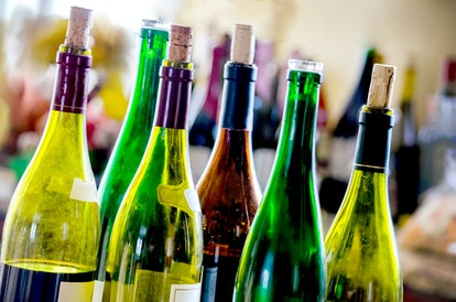 The shelf life of wine depends on whether or not it's opened.