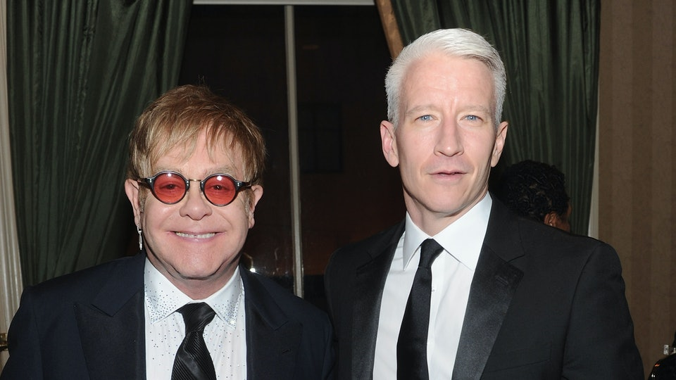 Elton John congratulated Anderson Cooper after the birth of his son.