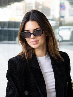 Kendall Jenner debuted new blonde highlights that were supposedly done before lockdown.