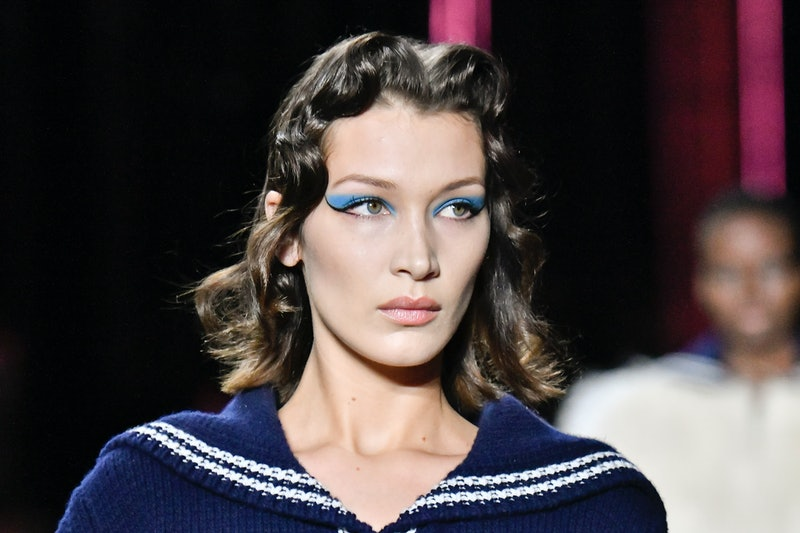 Bella Hadid was going strawberry blonde for the Met Gala.