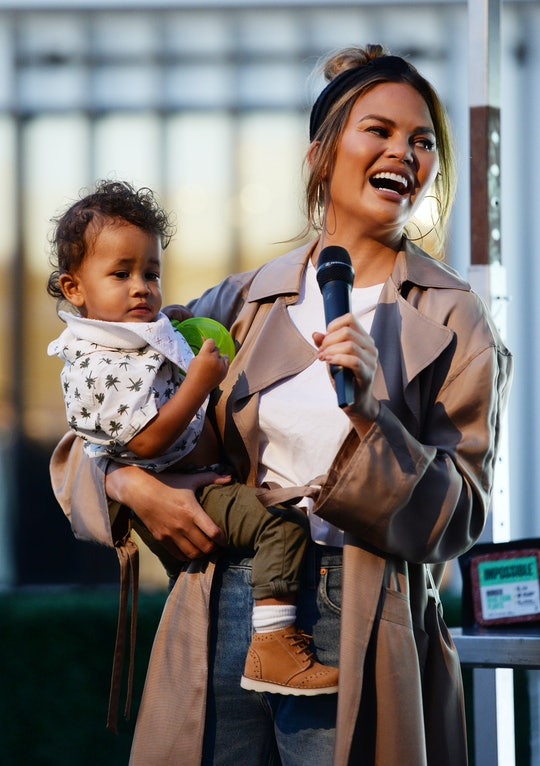 Chrissy Teigen tried her hand at cutting hair on her son Miles.