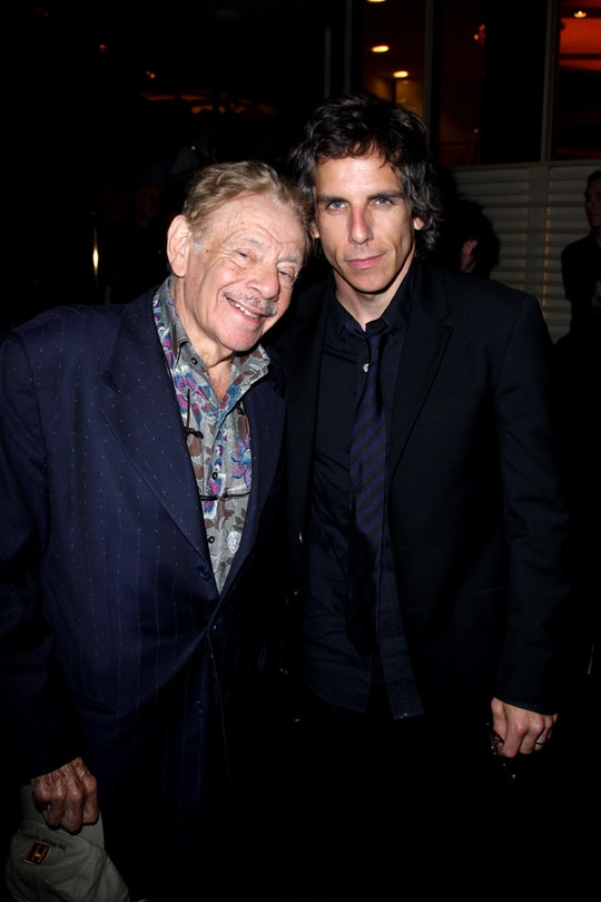 In a recent interview on The Tonight Show, Ben Stiller shared a memory about his dad Jerry Stiller watching a school play.
