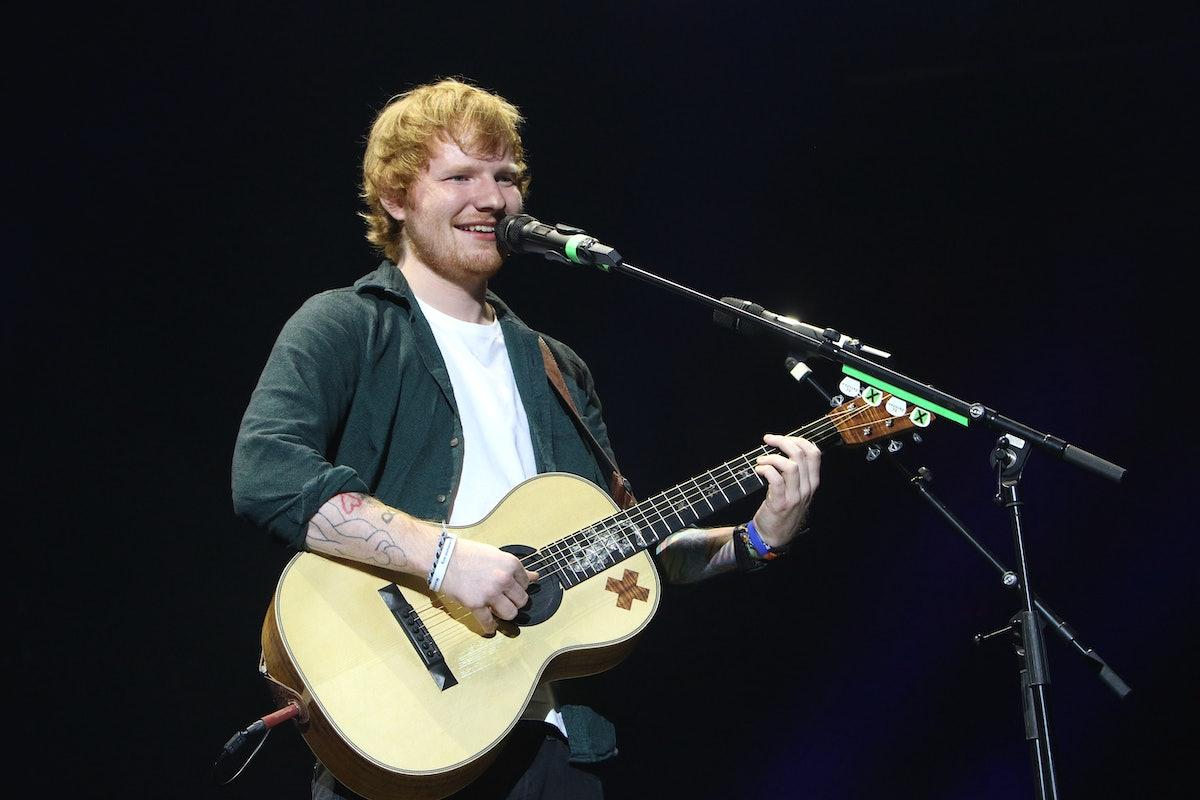 Ed Sheeran performs live.