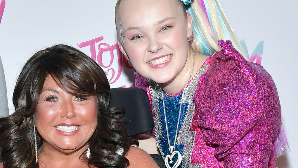 JoJo Siwa poses for a photo with Abby Lee Miller.