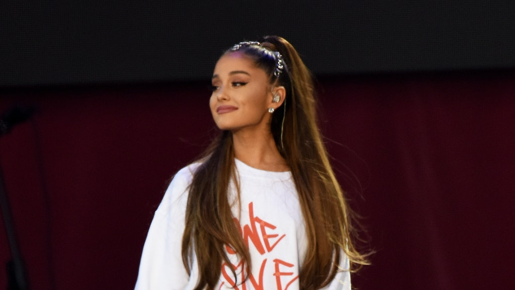 Ariana Grande performs at the 'One Love' concert in Manchester.