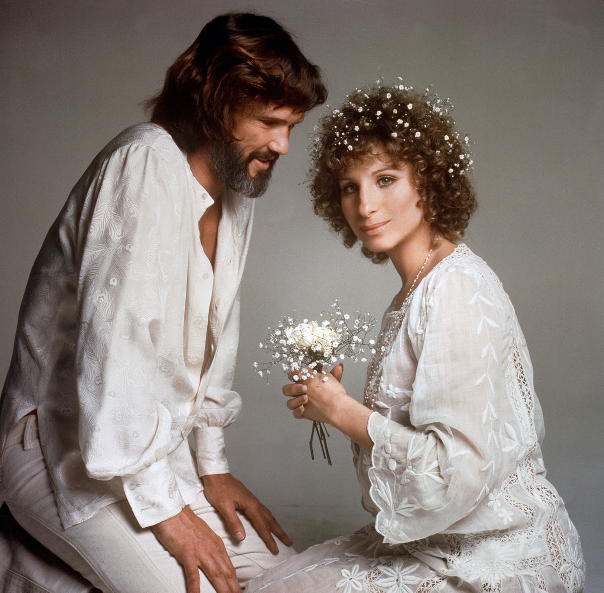 Barbara Streisand  and Kris Kristofferson in 'A Star Is Born'