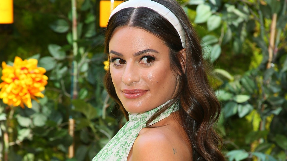 Lea Michele shared a new pregnancy photo by the pool