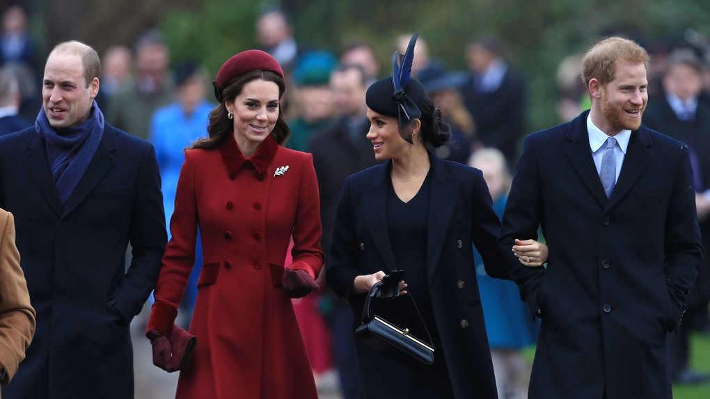 Prince William, Kate Middleton, Meghan Markle, and Prince Harry take a stroll.