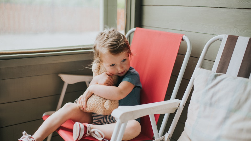 Experts say that even children miss hugs from people outside of their immediate household.