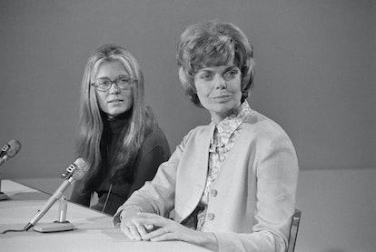 Jill Ruckelshaus and Gloria Steinem