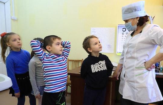 school nurse and kids