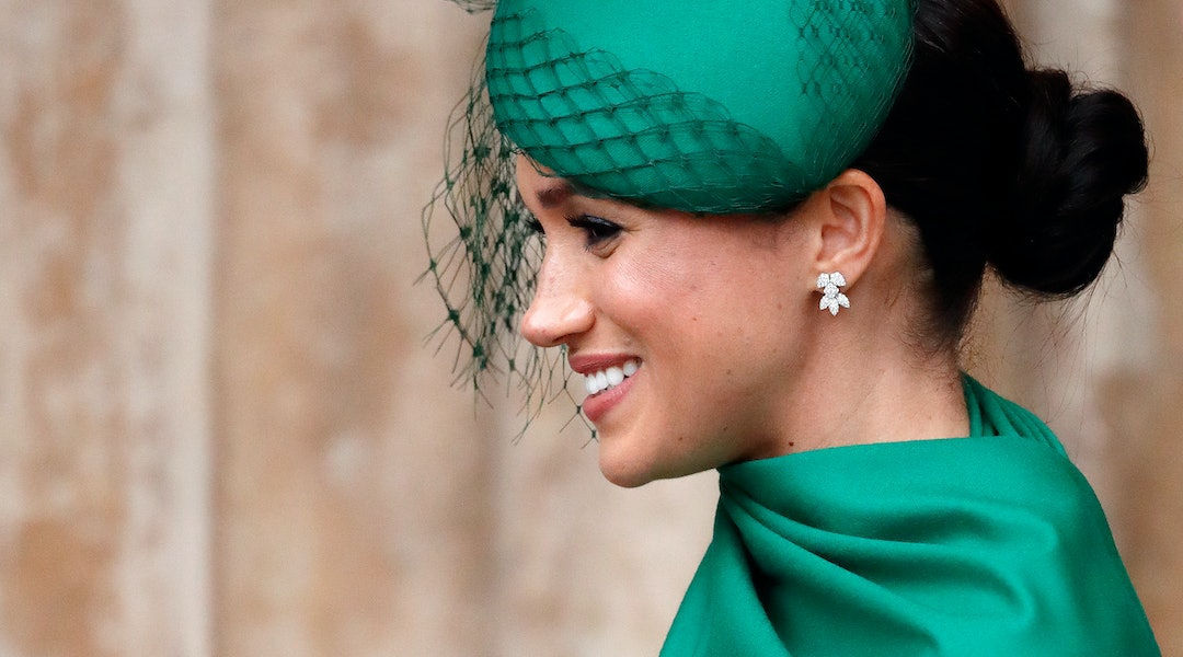 Meghan Markle wore a version of her signature messy bun at home