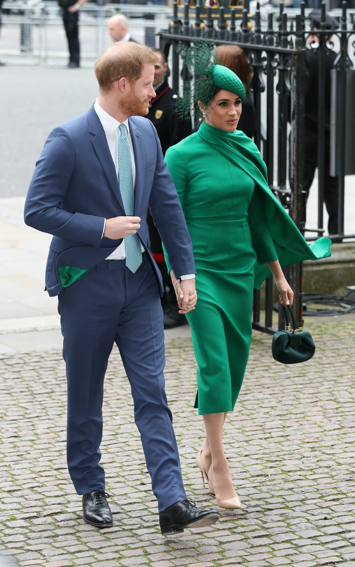Meghan Markle wore a green dress for Commonwealth Day in 2020.
