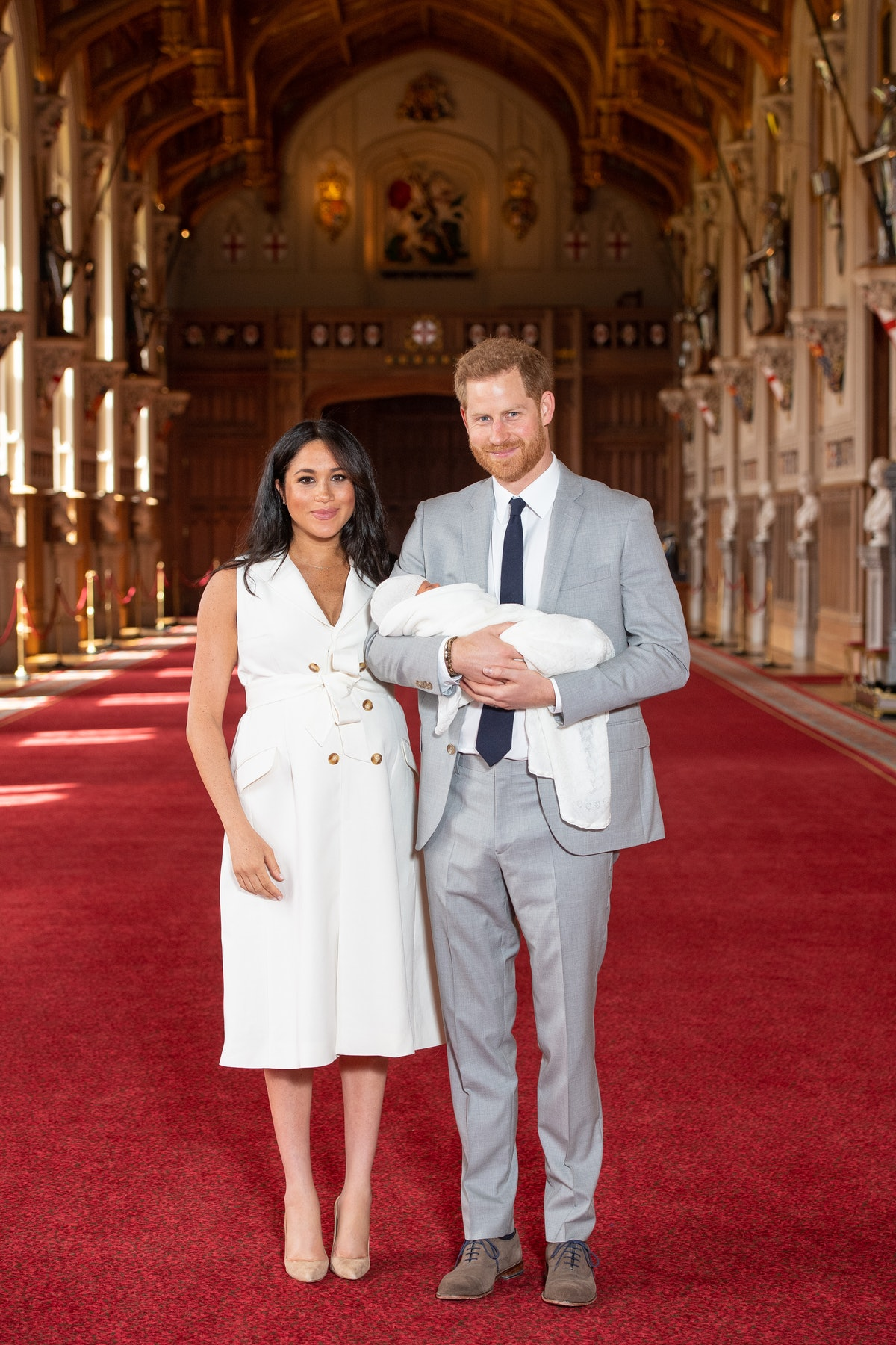 The Duke and Duchess formally announced the birth of their first child in May 2019.